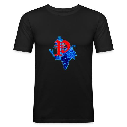 Paping Dranken Blauw - Mannen slim fit T-shirt