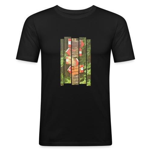 De verwarde hike - Mannen slim fit T-shirt