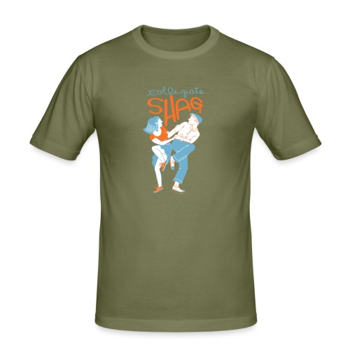 Collegiate Shag - Men's Slim Fit T-Shirt