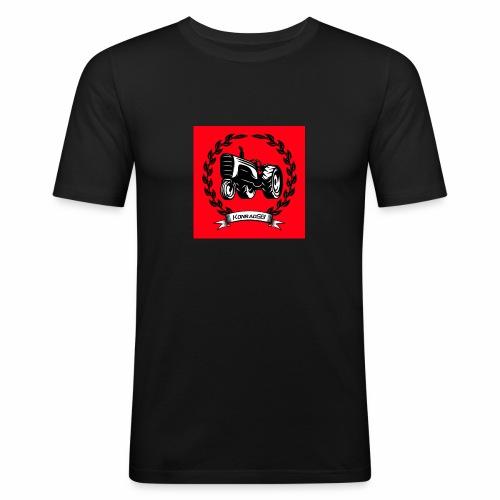KonradSB czerwony - Obcisła koszulka męska
