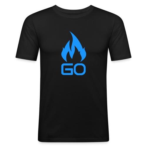 GO 1 png - Slim Fit T-skjorte for menn