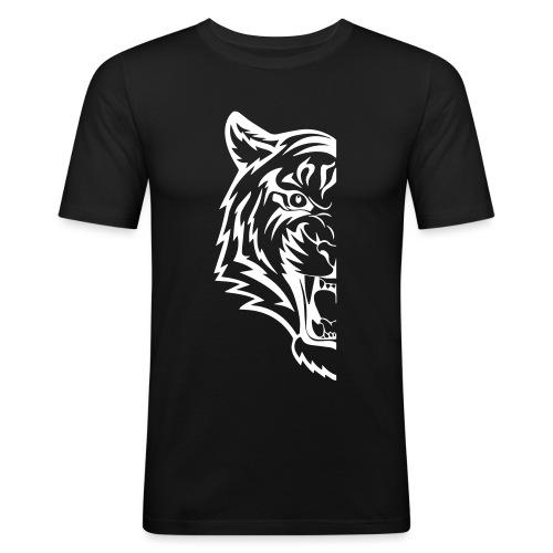 mezza tigre - Maglietta aderente da uomo