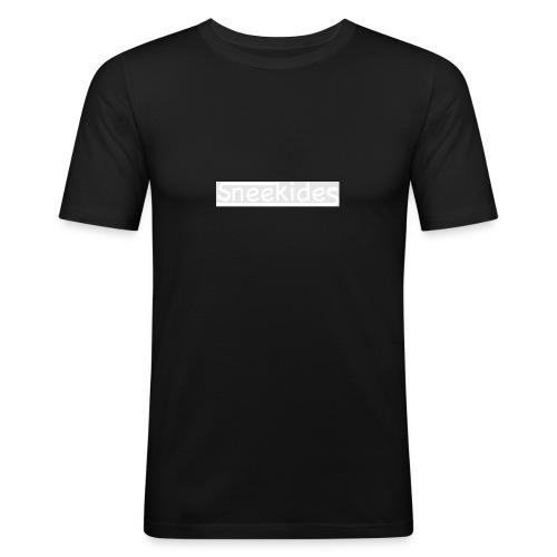 sneekides logo - Mannen slim fit T-shirt