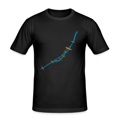 isar_girl_black - Männer Slim Fit T-Shirt