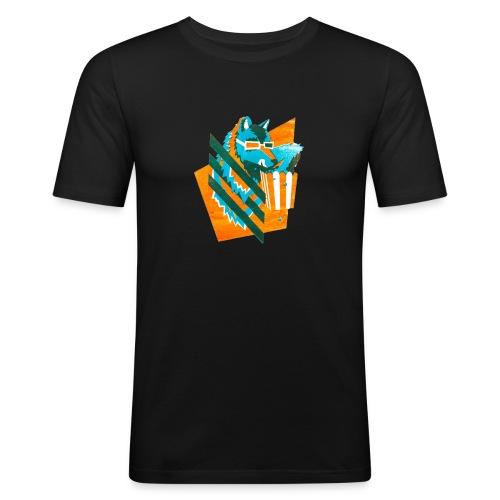 popcornwolf_logo_merch-0 - slim fit T-shirt