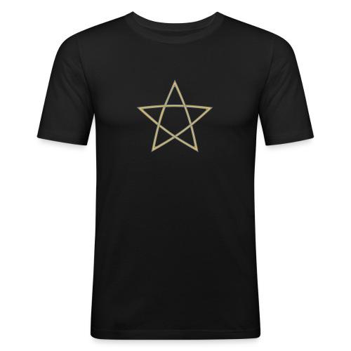 Pentagramm zweifarbig - Männer Slim Fit T-Shirt