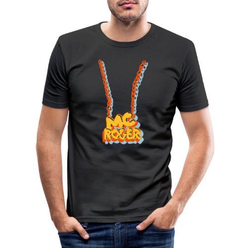 MC ROGER Bling Bling - Männer Slim Fit T-Shirt