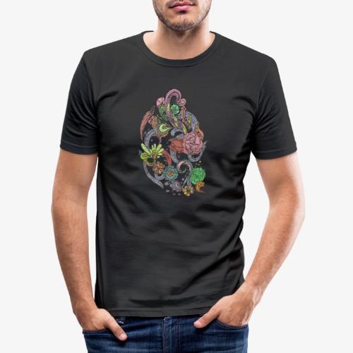 Flower Power - Rough - Slim Fit T-shirt herr