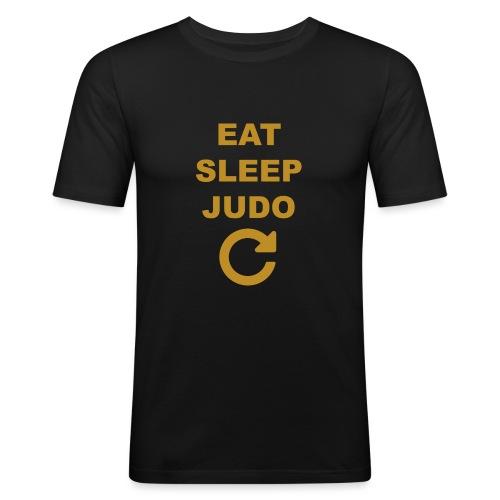 Eat sleep Judo repeat - Obcisła koszulka męska