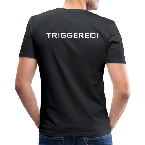White Negant logo + TRIGGERED! - Herre Slim Fit T-Shirt
