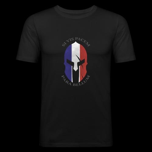 casque spartan si vis pacem02 - T-shirt près du corps Homme