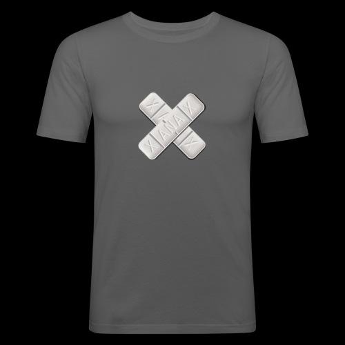 Xanax X Logo - Männer Slim Fit T-Shirt