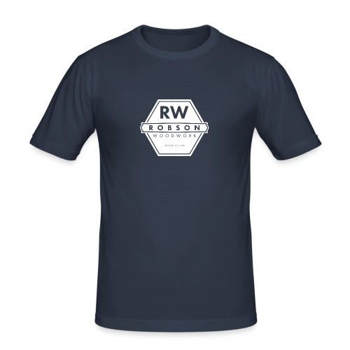 RW Logo In White - Men's Slim Fit T-Shirt