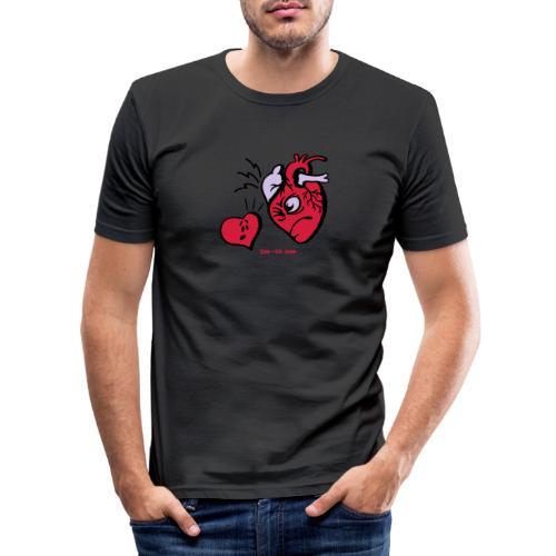 Heart vs Heart - Men's Slim Fit T-Shirt