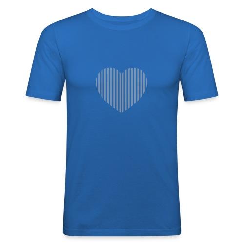 heart_striped.png - Men's Slim Fit T-Shirt