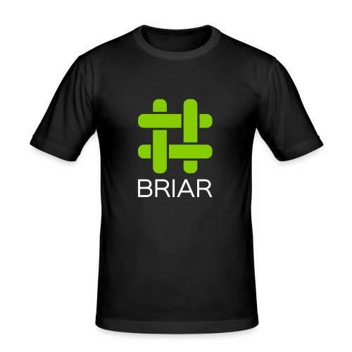 Briar Logo White - Men's Slim Fit T-Shirt