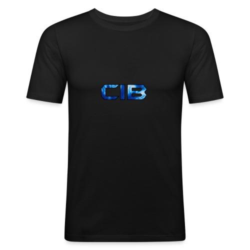 CuzImBacon blå farget logo - Slim Fit T-skjorte for menn