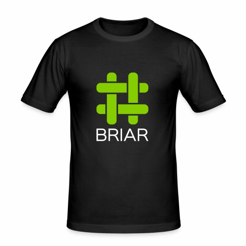 Briar Logo White - Men's Slim Fit T-Shirt
