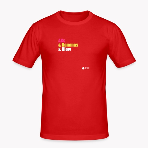 AKs & Bananas & Blow - Männer Slim Fit T-Shirt