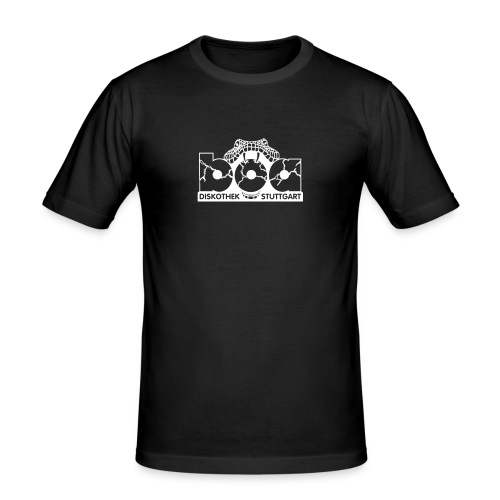 boa logo vektor stanz 1c hellgrau - Männer Slim Fit T-Shirt