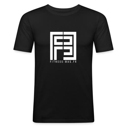 logo fitness mag 2017 v1 - T-shirt près du corps Homme