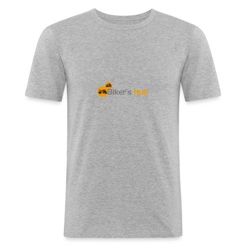 Biker's Hub Logo - Men's Slim Fit T-Shirt