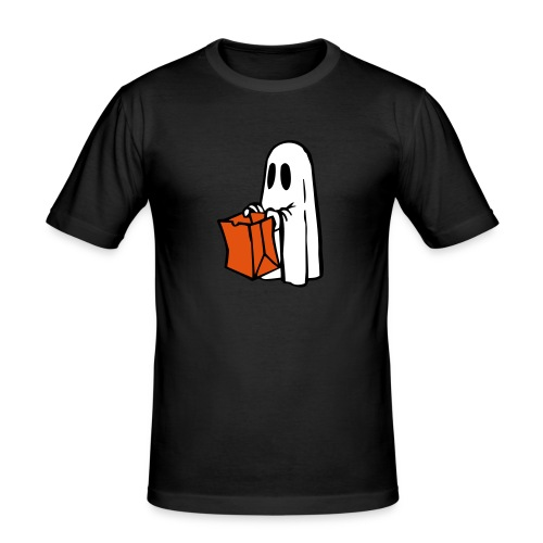Geist mit Tüte 3farbig - Männer Slim Fit T-Shirt