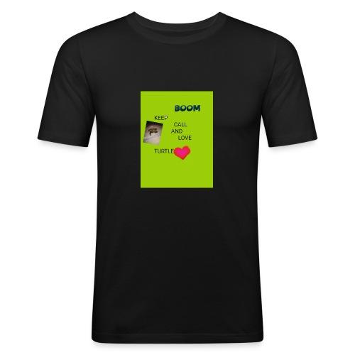 Keep call and love turtle - Miesten tyköistuva t-paita