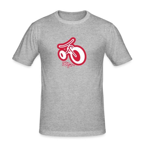 3cycle red white - Maglietta aderente da uomo