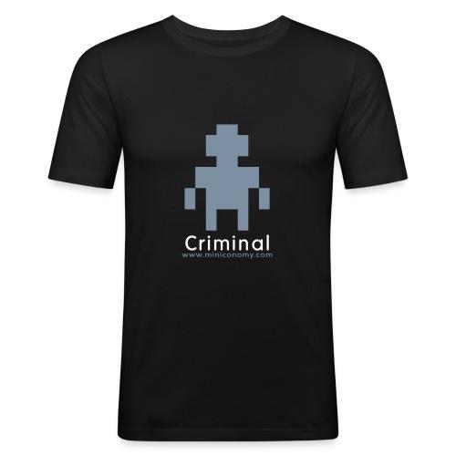 Miniconomy Criminal - Men's Slim Fit T-Shirt