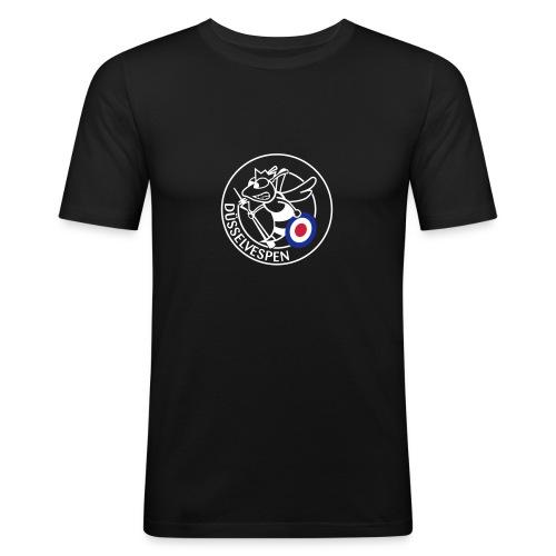Düsselvespen Weiß Rot Blau Vereinfacht Mittel - Männer Slim Fit T-Shirt