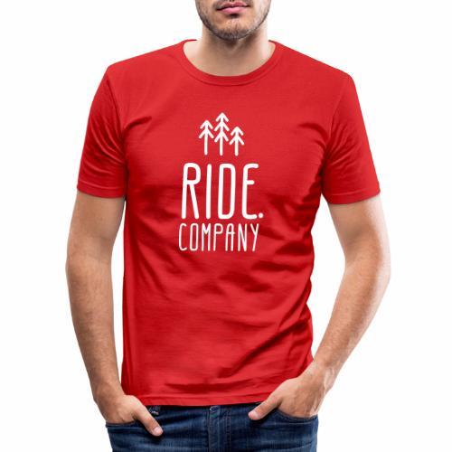 RIDE.company Logo - Männer Slim Fit T-Shirt