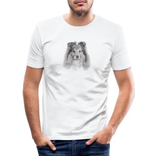 shetland sheepdog sheltie - Herre Slim Fit T-Shirt
