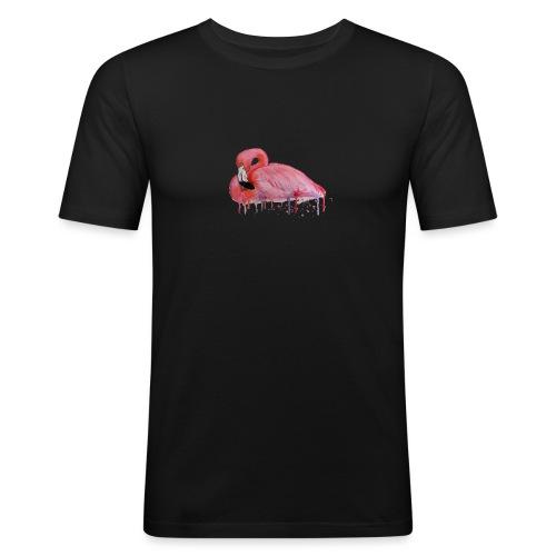 Pink Flamingo Watercolors Nadia Luongo - Maglietta aderente da uomo
