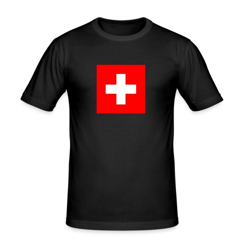 Flag_of_Switzerland - Männer Slim Fit T-Shirt