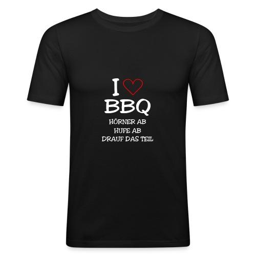 BBQ: I LOVE BARBECUE - Männer Slim Fit T-Shirt
