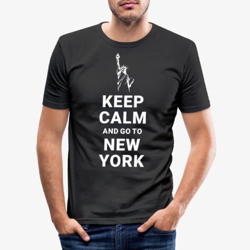 Keep calm and go to New York - Männer Slim Fit T-Shirt