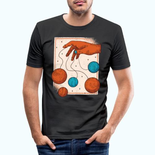 Planets On A String - Men's Slim Fit T-Shirt