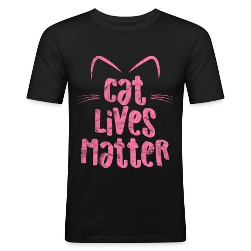 Cat Lives Matter Katzen sind auch wichtig - Männer Slim Fit T-Shirt