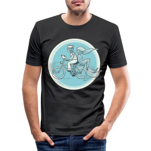 To the Beach - Backround - Männer Slim Fit T-Shirt