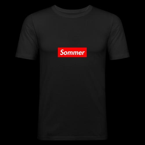 Sommer Logo - Slim Fit T-skjorte for menn