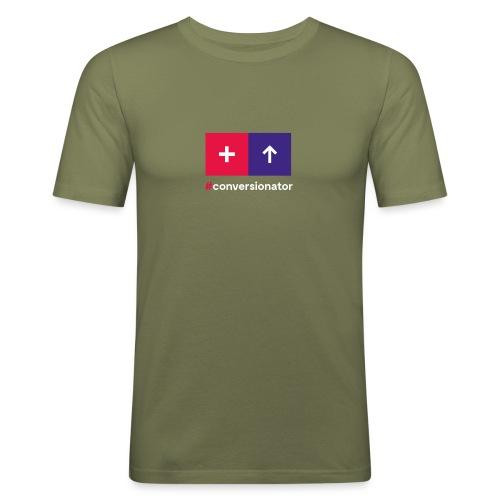 Conversionator mit Plus & Pfeil - Männer Slim Fit T-Shirt