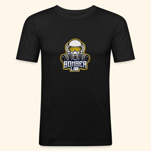 BOMBER LAN Logo - Männer Slim Fit T-Shirt