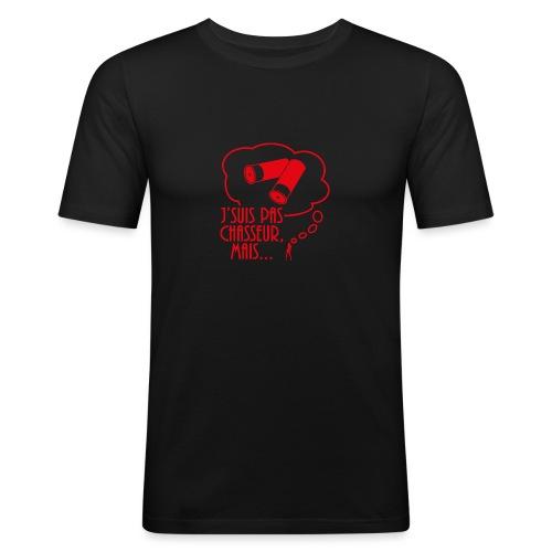 Je Suis Pas Chasseur Mais - T-shirt près du corps Homme