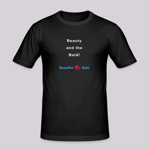 Beauty and the bald-w - Mannen slim fit T-shirt