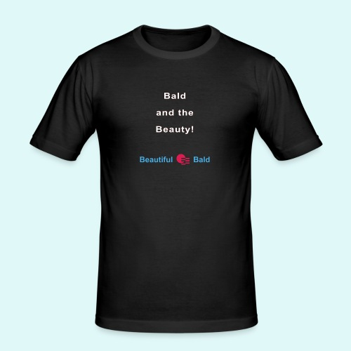 Bald and the Beauty w - Mannen slim fit T-shirt