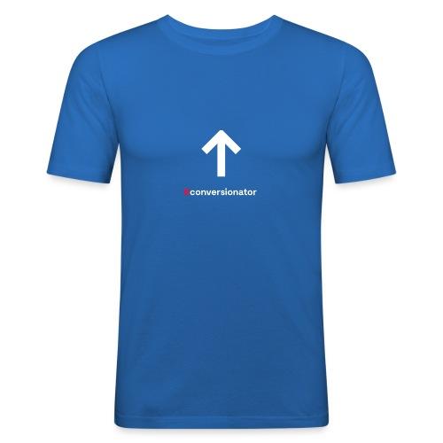 Conversionator mit Pfeil ohne Kreis - Männer Slim Fit T-Shirt