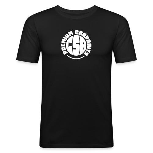 csb premium carpbaits weiss png - Männer Slim Fit T-Shirt