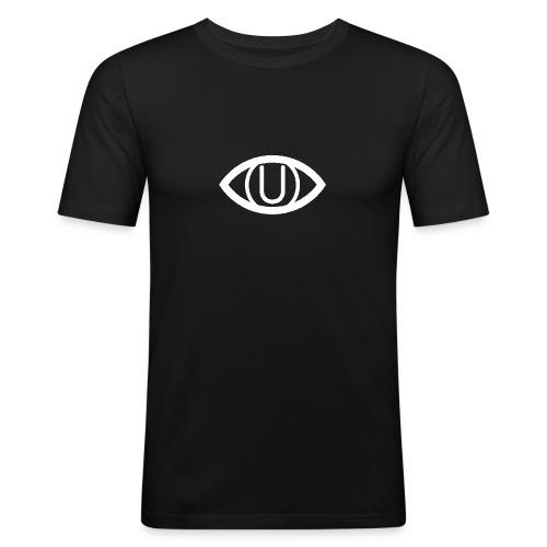 EYE SYMBOL WHITE - Men's Slim Fit T-Shirt