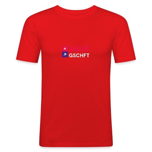 MHR GSCHFT mit Logo - Männer Slim Fit T-Shirt